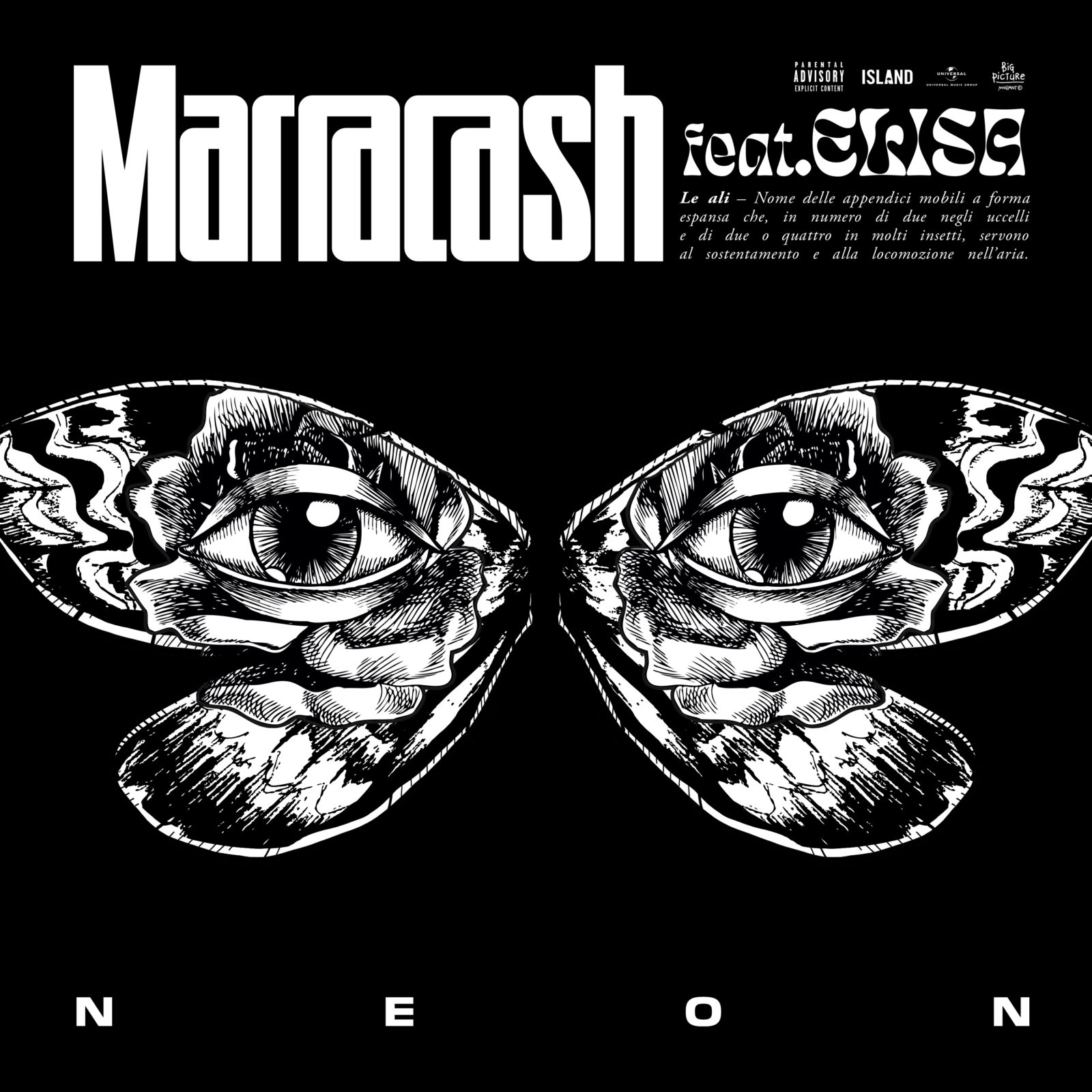 MARRACASH - NEON - (LE ALI) (FEAT ELISA)